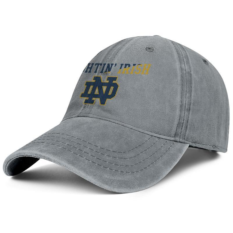 74e5f3ed7 Notre Dame Fighting Irish football logo Mesh Cowboy hat mens golf hat  cotton adjustable women s basketball cap classic golf cap mesh sun ha