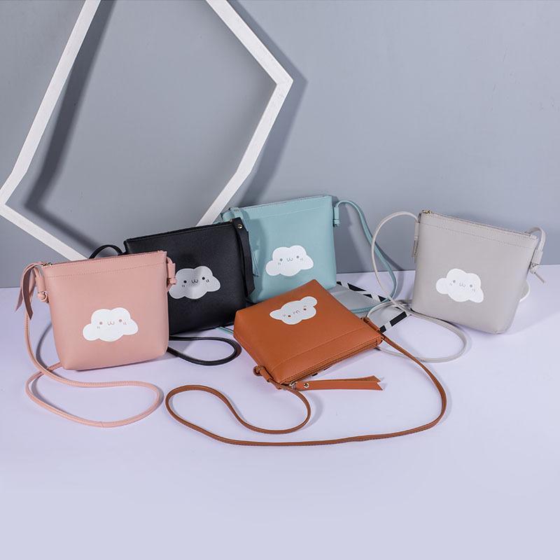 31bce7374e Women Shoulder Bag Pu Leather Zipper Phone Pouch Cartoon Cloud Girl Messenger  Bag Gift Fa 3 Handbag Wholesale Hobo Purses From Maxtext03