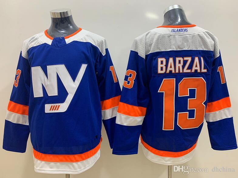 newest 35019 4e9e9 New Islanders Jerseys #13 Barzal Jersey New Hockey Jerseys Alternate Blue  Color C Patch Size S-XXXL Mix Order High Quality All Jerseys