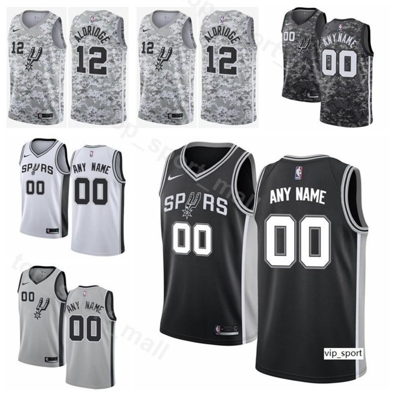 san francisco afef9 48b92 Print Man Youth Lady Basketball Spurs Patty Mills Jersey Bryn Forbes Davis  Bertans Cunningham Derrick White Jakob Poeltl Shirts Custom Name