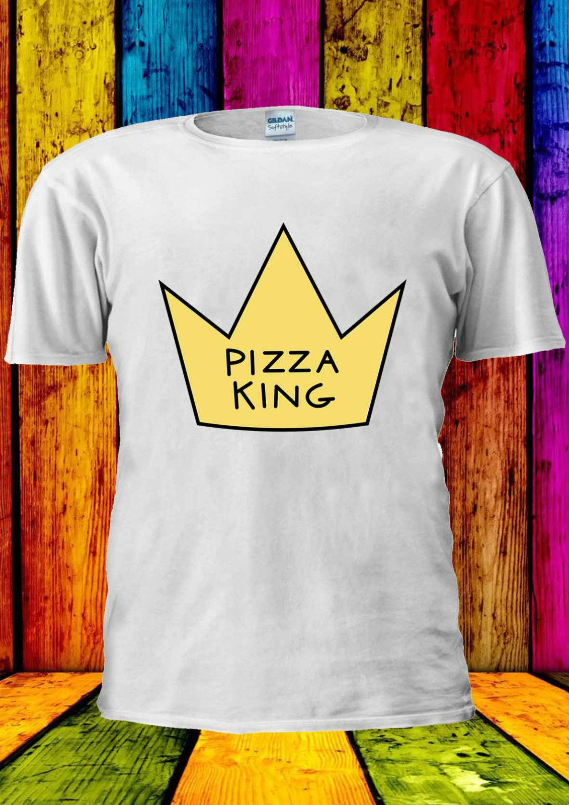 3fc1067c Pizza King Crown Of A Pizza Funny T Shirt Vest Tank Top Men Women Unisex  1732 Hipster O Neck Casual Short Sleeve Leisure Fashion Shirt And Tshirt  Create ...