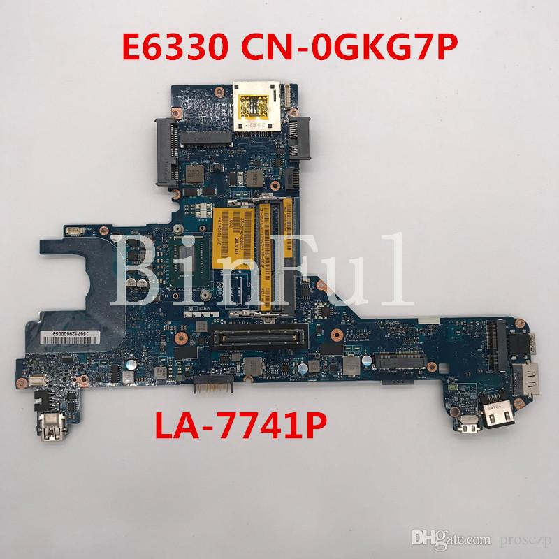 High quality For Latitude E6330 Laptop motherboard CN-0GKG7P 0GKG7P GKG7P QAL70 LA-7741P With SR0XD I3-3130M CPU 100% full Tested