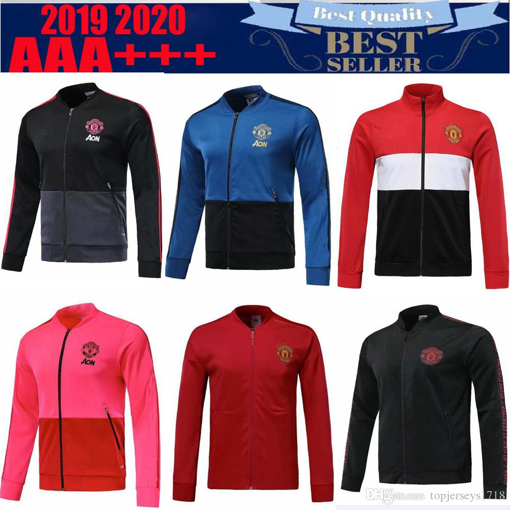 12d48f3864882 Acheter 2018 2019 Homme United POGBA Veste De Football Adulte Survêtement  18 19 LUKAKU De Foot LINDELOF Veste De Survêtement Pour Homme De $24.14 Du  ...