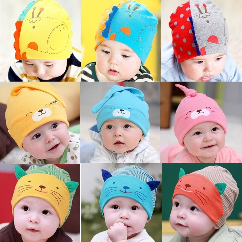 ae609cdf1 Newborn Baby In Autumn And Winter Hats For Children Boys And Girls 0-3-6-12  Months Old Caps