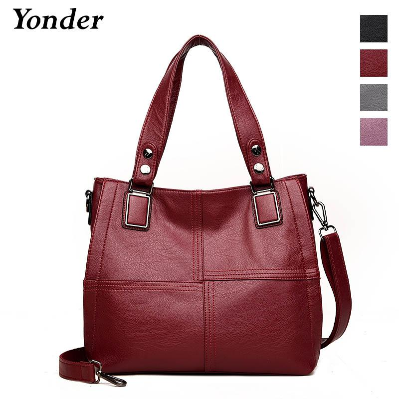 0309b9fc8ea1c Yonder Genuine Leather Tote Bag for Women Extra Large Capacity ...