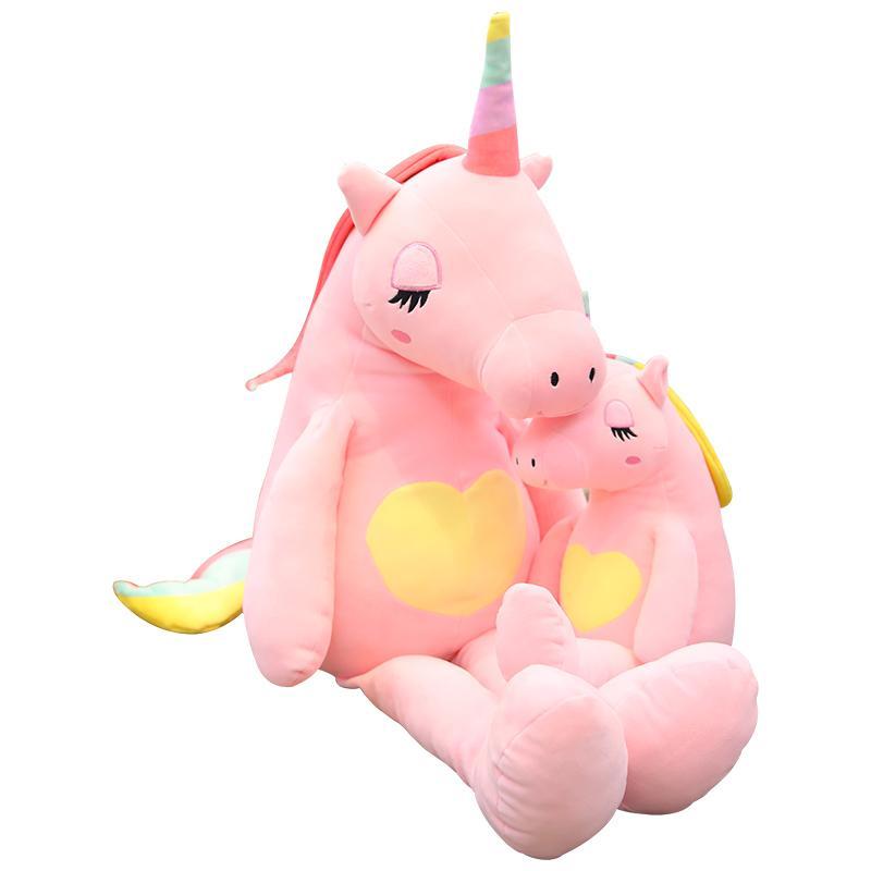 2019 Large Unicorn Plush Stuffed Animal Baby Dolls Kawaii Cartoon