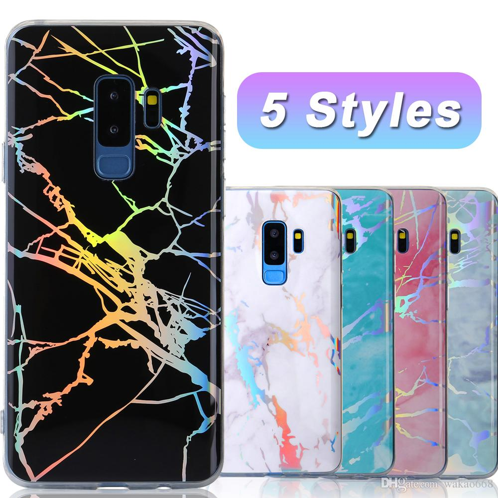 For Samsung Galaxy S10 Plus S10e case Marble Cover Design Soft TPU Bling  Laser Luxury Designer Phone Case for Samsung Note 9 8