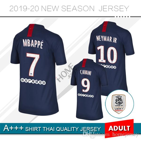 fbb6117ef6 Compre 2019 MBAPPE 7 # Camisa De Futebol Em Casa 19 20 Paris Preto # 9  Camisas De Futebol CAVANI 2020 PSG Maillot De Pé Uniforme De Homejersey, ...