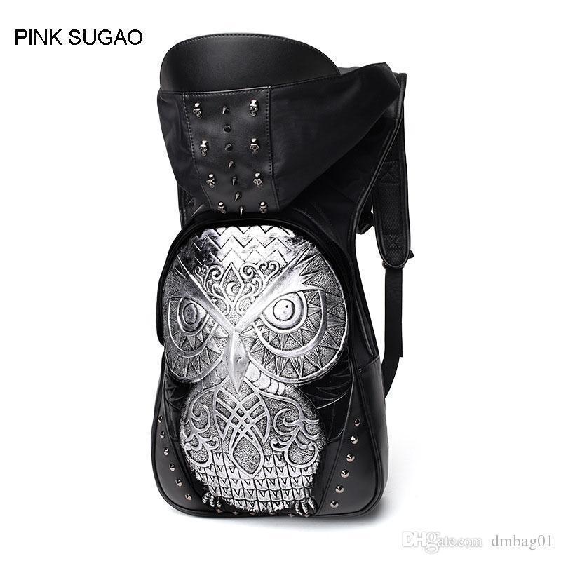 17a564135c Pink Sugao Designer Backpack Leather Backpack Designer Fashion 2D Owl  Animal Back Pack High Quality Waterproof Nice Fashion Men Bag College  Backpacks Girl ...
