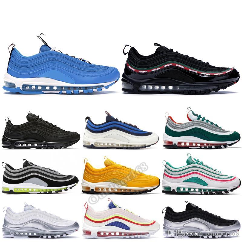Nike air max 97 OG Hombres Zapatillas Deportivas South Beach Corduroy Blanco Undftd Negro Overbranding Blue Hero Diseñador Mujer Zapatillas de