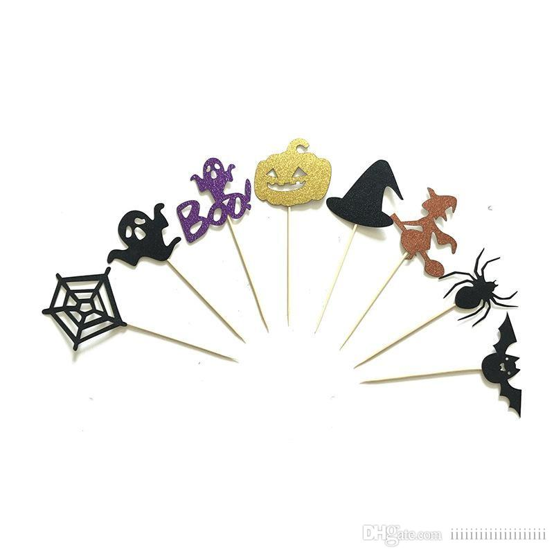All Saints Day Halloween Cupcake Toppers Birthday Cake Wedding Favors Party Gifts Decorations Online With 107 Set On