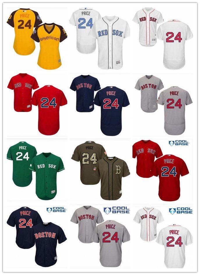 innovative design 82192 13f43 2018 Boston Red Sox Jerseys #24 David Price Jerseys men#WOMEN#YOUTH#Men s  Baseball Jersey Majestic Stitched Professional sportswear