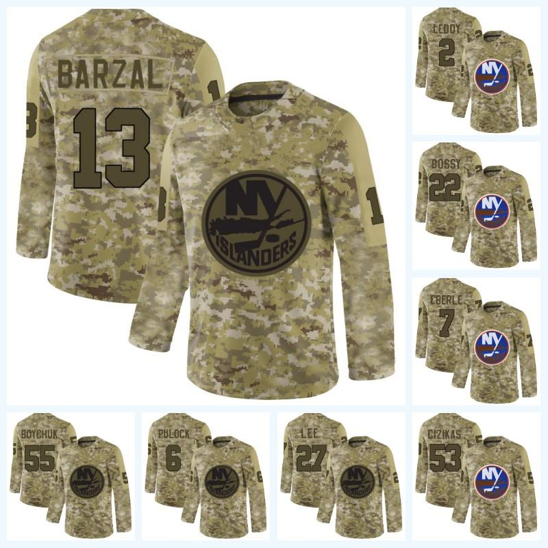 best sneakers 17bfc 505cc 12 Josh Bailey New York Islanders Mathew Barzal Anders Lee Casey Cizikas  Brock Nelson 2019 Upgraded version of the new camouflage Jersey