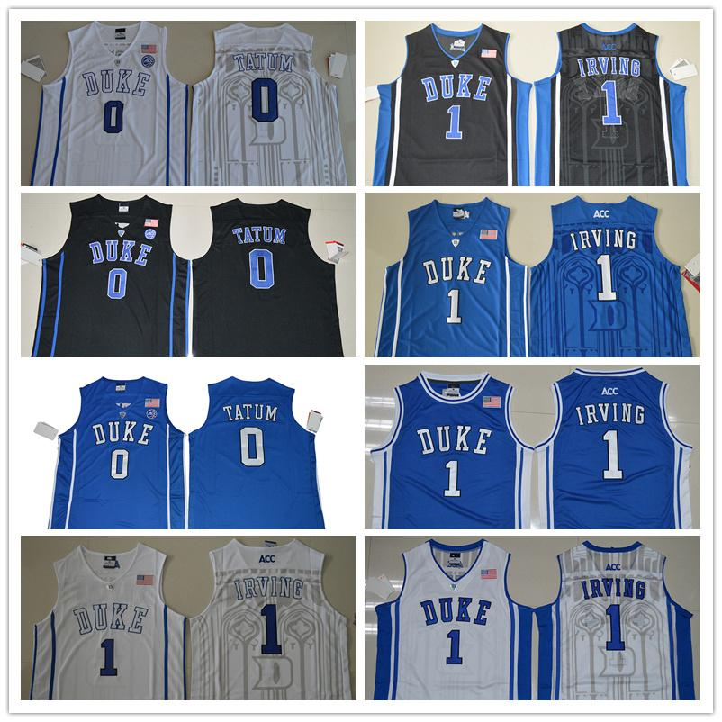 580a67bfb55e ... best 2019 mens kyrie irving jersey duke blue devil jayson tatum college  basketball jerseys stitched size