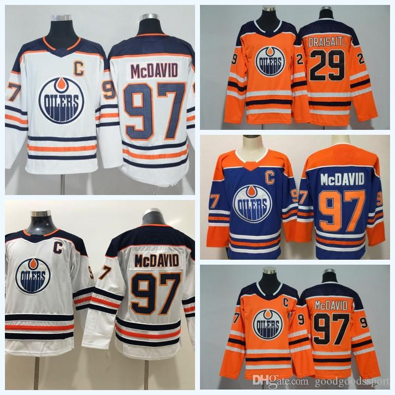Men Women Youth Edmonton Oilers Jerseys 97 McDavid 99 Wayne Gretzky ... c38cac845