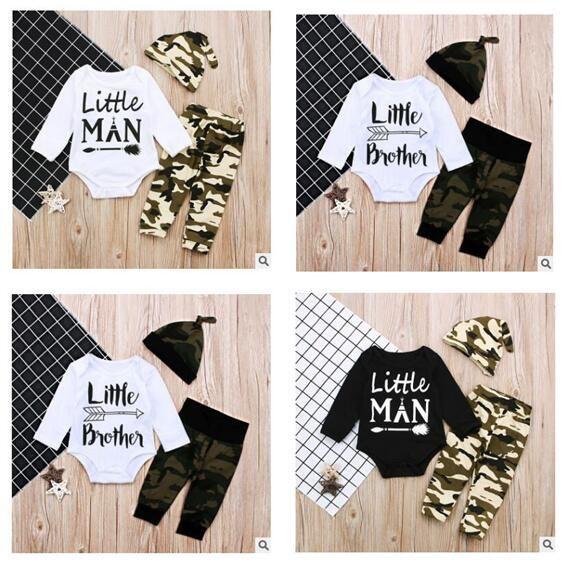 bb16329c563f2 Kids Designer Clothes Baby Infant Boy Designer Clothes Toddler Boys Romper  Pant Hats Outfits Letter Arrow Bodysuit Camoufla Kids Clothes