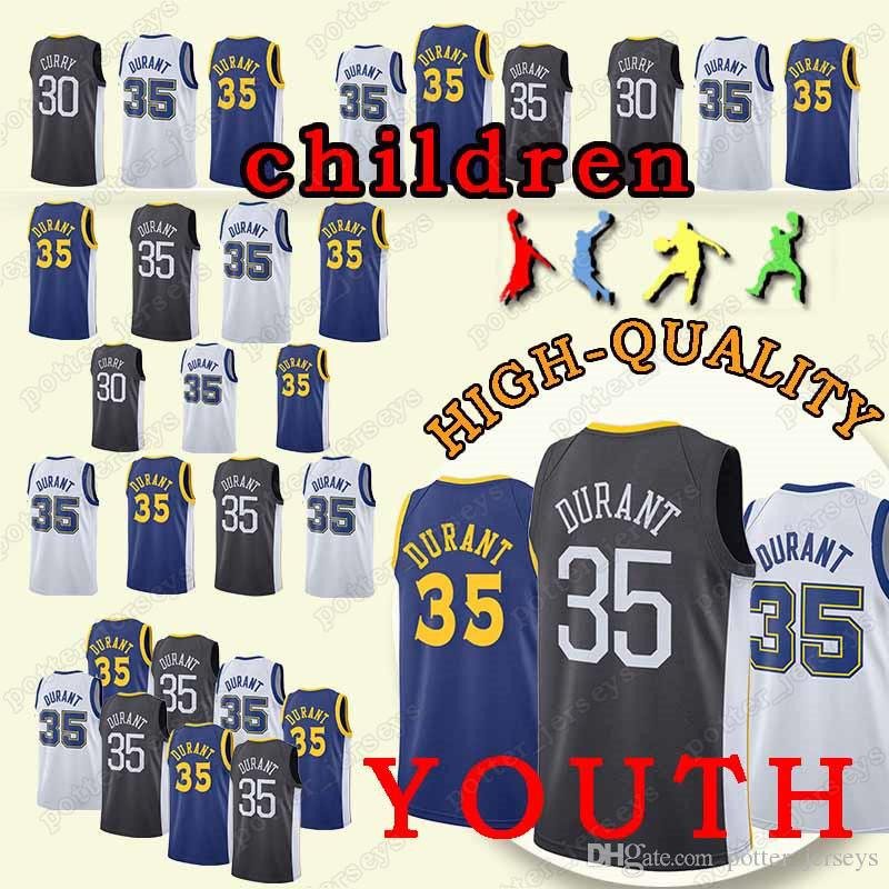 cc9b910bb14 2019 YOUTH Golden State 35 Kevin Jersey Durant Jerseys Warriors 30 ...