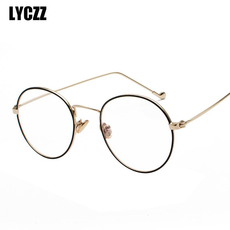 0011b04fd2 LYCZZ Anti Blue Light Women Men Retro Glasses Frames Brand Design  Eyeglasses Fashion Unisex Optical Metal Round Glasses Frame UK 2019 From  Taihangshan