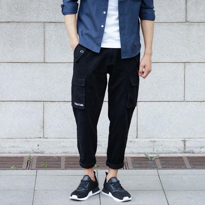 Compre Estilo Japonés Moda Hombre Pantalones Vaqueros Pantalones Casuales  Loose Fit Multi Big Pocket Pantalones Cargo Streetwear Jóvenes Hip Hop  Pantalon ... ae63d5b9c7a