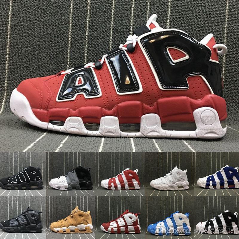 e4a693f3b5 Compre Air More Uptempo 96 Bull Zapatillas De Baloncesto Para Hombre Rayas  A Rayas Scottie Pippen PE Triple White Athletic Sports Para Mujer Diseñador  ...