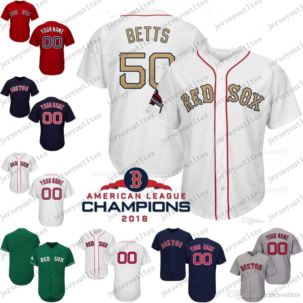 d61314ffacc2e Compre 2019 Gold Program Custom Men Boston Red Sox Jersey Bogaerts Pedroia  Andrew Benintendi Ortiz Mookie Betts Jackie Bradley Jr. J. D. Martínez A  $24.37 ...