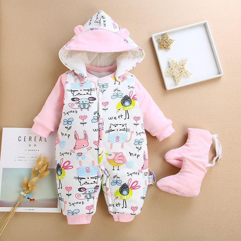 eb6714099738 2019 Good Quality Newborn Clothing Baby Boys Girls Winter Rompers ...