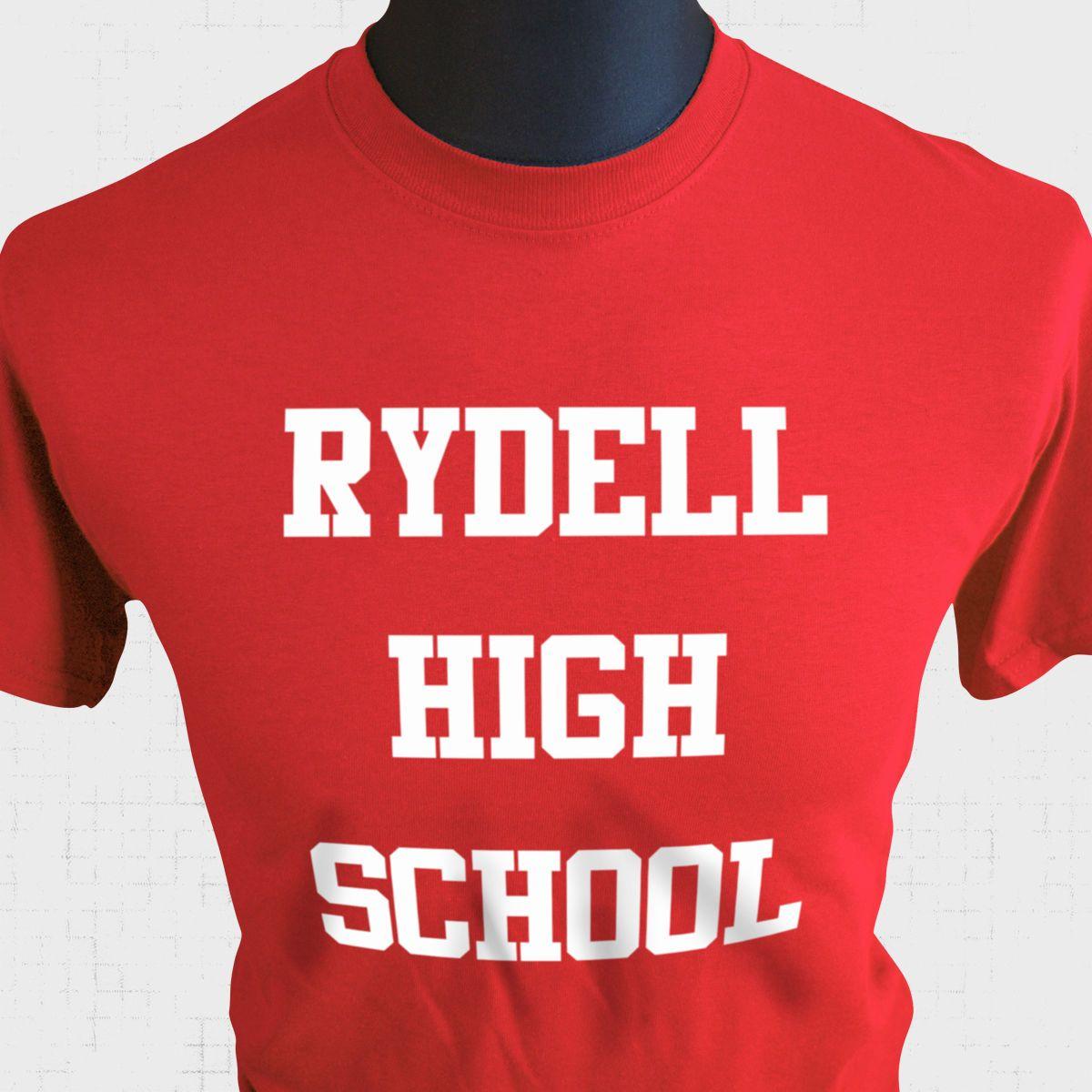 Rydell High School T Shirt Grease Musical Fancy Dress John Travolta