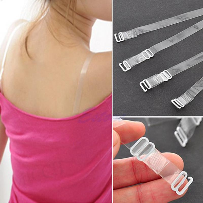 1 cm Wide Bra Straps Transparent Frosted Women's Bra Straps Baldric Adjustable Intimates Accessories 5 Pair
