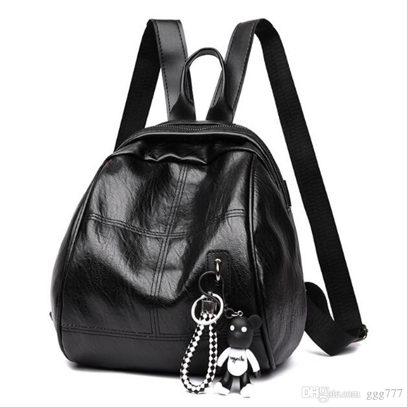0dfb83a153 2019 New Backpacks Fashion Women Multifunctional Backpack Frosted Leather  Shoulder Bags Crossbody Bag Travel Bag Handbags Backpack Shoulder Bags  Online with ...