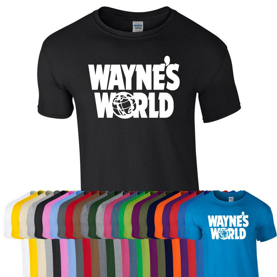 2b2b37b9dcfde WAYNES WORLD Printed Tshirt Tee Top Party Halloween Retro Fan Fancy Dress  Stag Funny free shipping Unisex