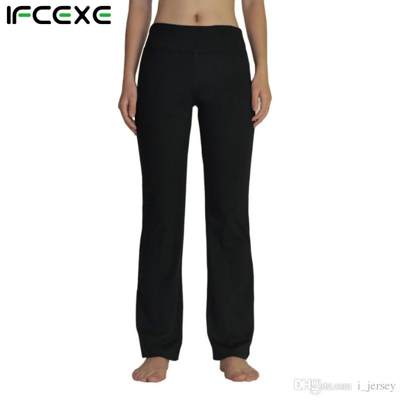 09935b62690f2 2019 Women Power Flex Boot Cut Yoga Pants Tummy Control Workout Running 4  Way Stretch Boot Leg Yoga Pant Flare Trousers Bootleg Pants #147332 From  I_jersey, ...