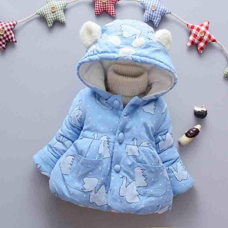 c3a8d0cf41a4 Good QualityWinter Baby Girls Thick Warm Hooded Jacket Baby Down ...