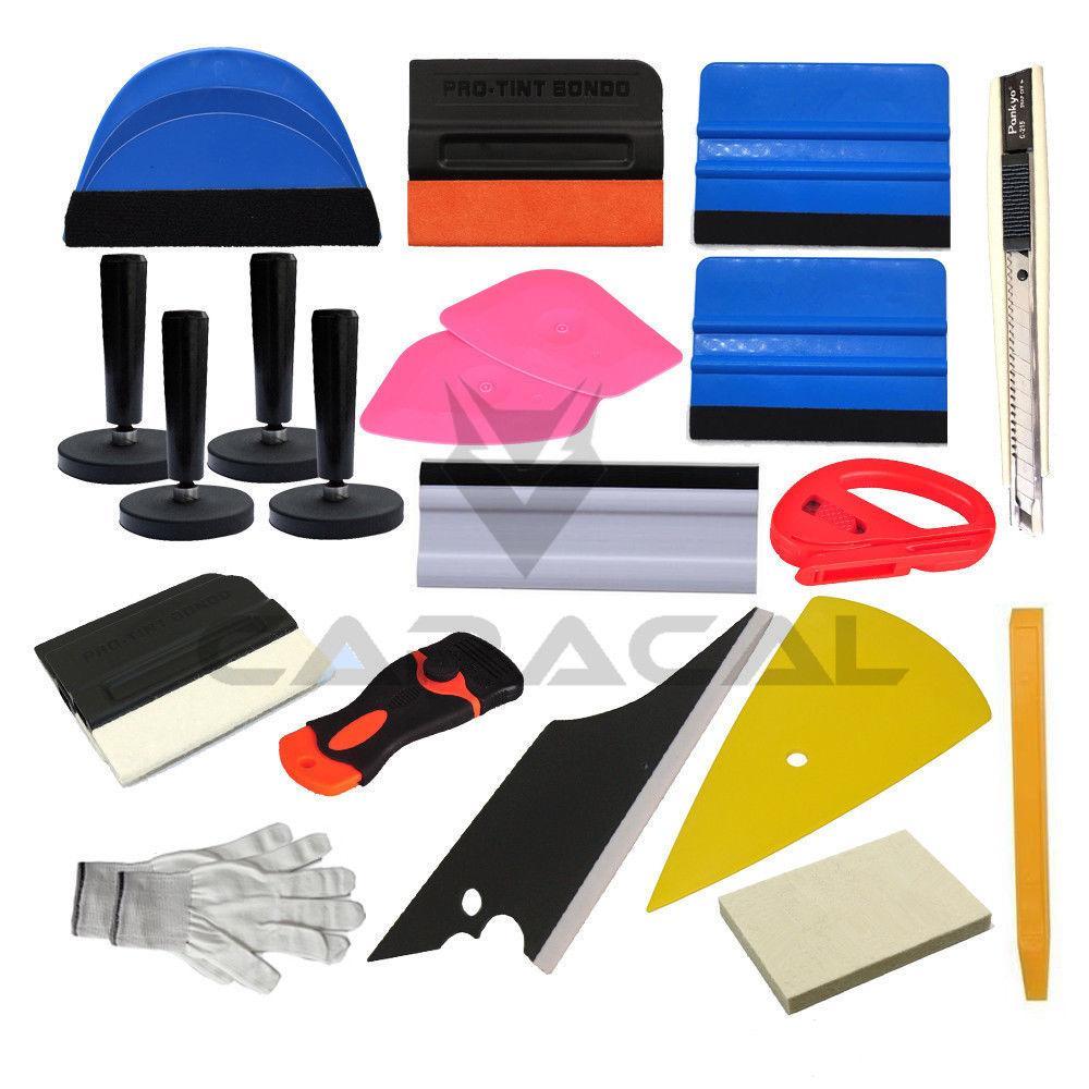 Auto Car Vinyl Film Wraps Cutter Knife Plastic Scraper Tool Set Automobiles  Safe Film Cutter Squeegee Tools Kit