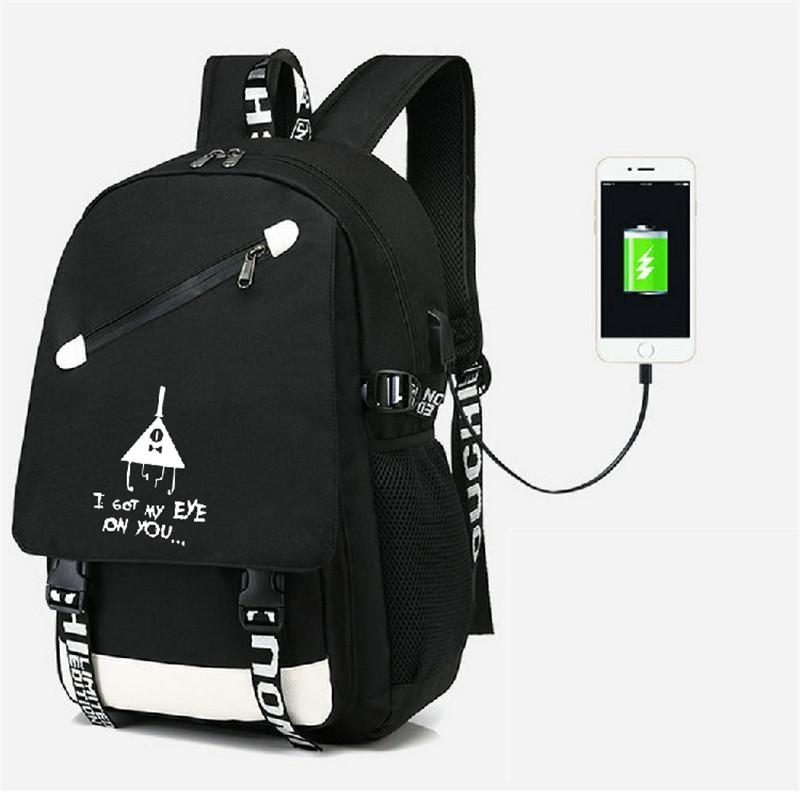 4a7c773acee0 Gravity Falls Backpack Ruckback With USB Port Bag Travel School Bag USB  Charging Teenagers Casual Laptop Tool Backpack Best Laptop Backpack From  Kaochange