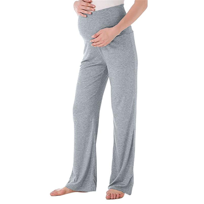 e25e94987b 2019 Maternity Clothes Pregnant Clothes Maternity Pregnant Straight Lounge  Stretch Pants Trousers Maternity Pants Ropa Maternidad D28 From Yosicil01