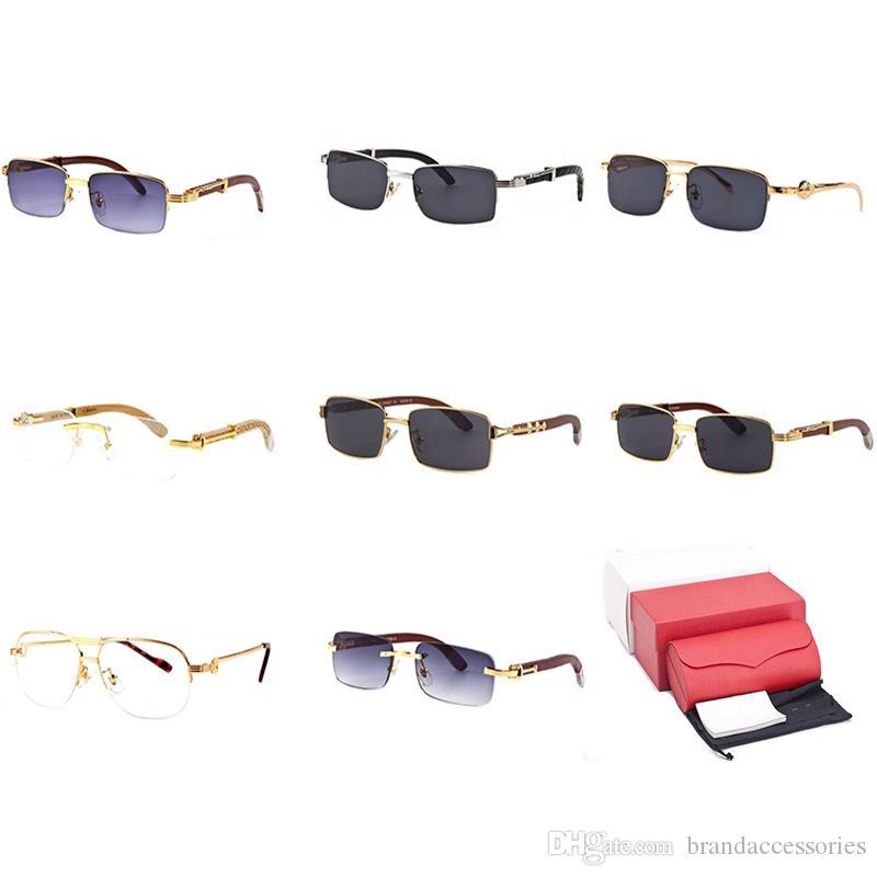 ffa7d3a02e Optical Frame Rimless Sunglasses Wooden Buffalo Horn Eyeglasses Square Men  Women Casual Shade Clear Reader Glasses Outlet Gafas De Sol C43 Polarised  ...
