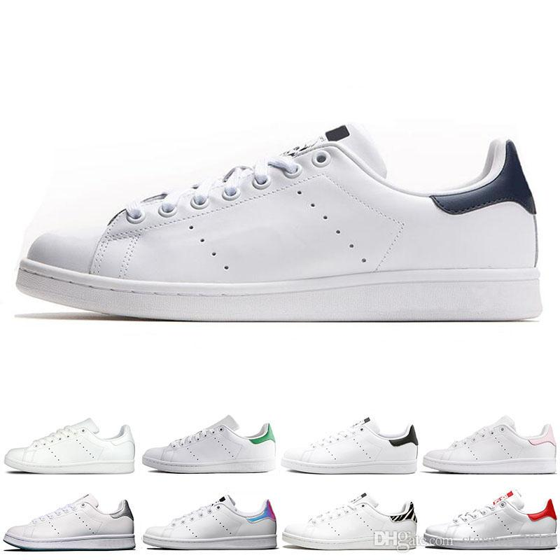 Adidas Smith Classic smith hommes femmes chaussures stan noir blanc rouge bleu argent rose baskets smith Casual chaussures leathe taille 36 44
