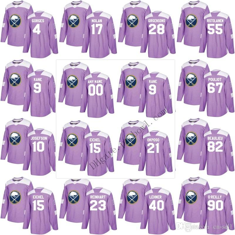 Purple -Buffalo Sabres Fights Cancer Practice 9 15 Jack Eichel XS ... a1bb20d39