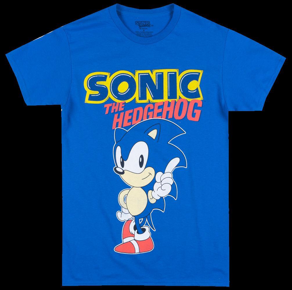 Grosshandel Sega Sonic Das Hedgehog T Shirt Blue Mens Video Spiel T