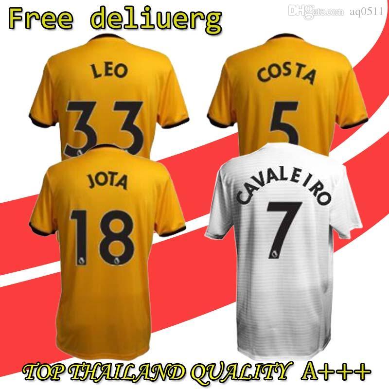 2019 New WOLVES 2018 2019 ADULT HOME SHIRT Wolverhampton Wanderers Top  Quality Soccer Jerseys Diogo Jota Leo Costa WOLVES FC Football Shirt From  Aq0511 9796486e0