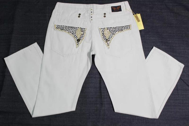 Acheter 2019 Mode Hommes Blanc Rouge Noir Jeans À Fermeture Éclair Jeans  Robin Jeans Cristal Goujons En Denim Pantalon Designer Pantalon Taille Pour  Homme ... e47f0de211ff