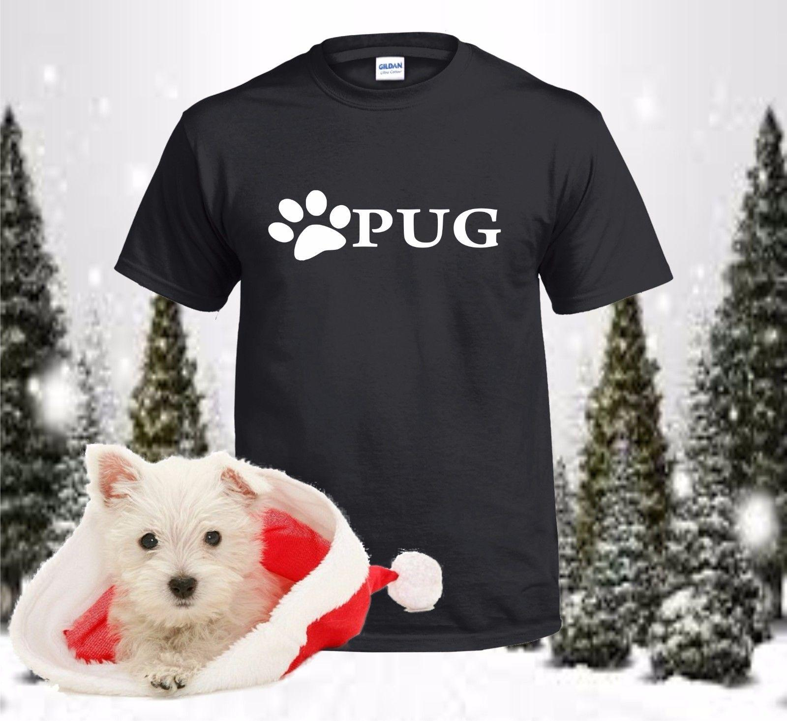 2f85b267d Pug, Pug Mom, Pug Dad, Pug Paw, Pet Lover, Rescue Dog, Dog Paw, Dog, Gifts,  14 NEW Fashion Custom Printed Summer Straight Cotton Funny Vintage T Shirts  T ...