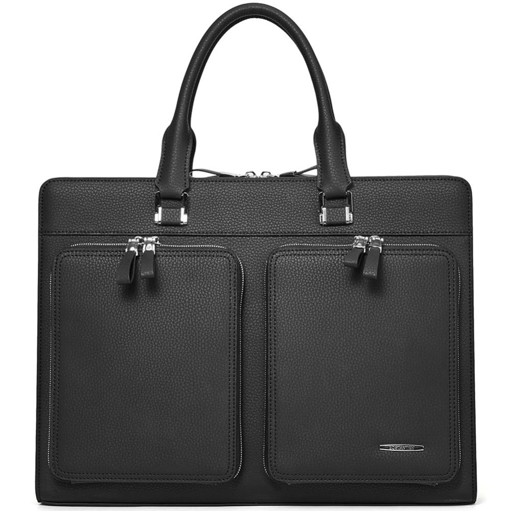 5d446bac8a16 BOSTANTEN Male Briefcase Slim Laptop Business Vintage Genuine Leather  Messenger Handbag Bags for Men & Women