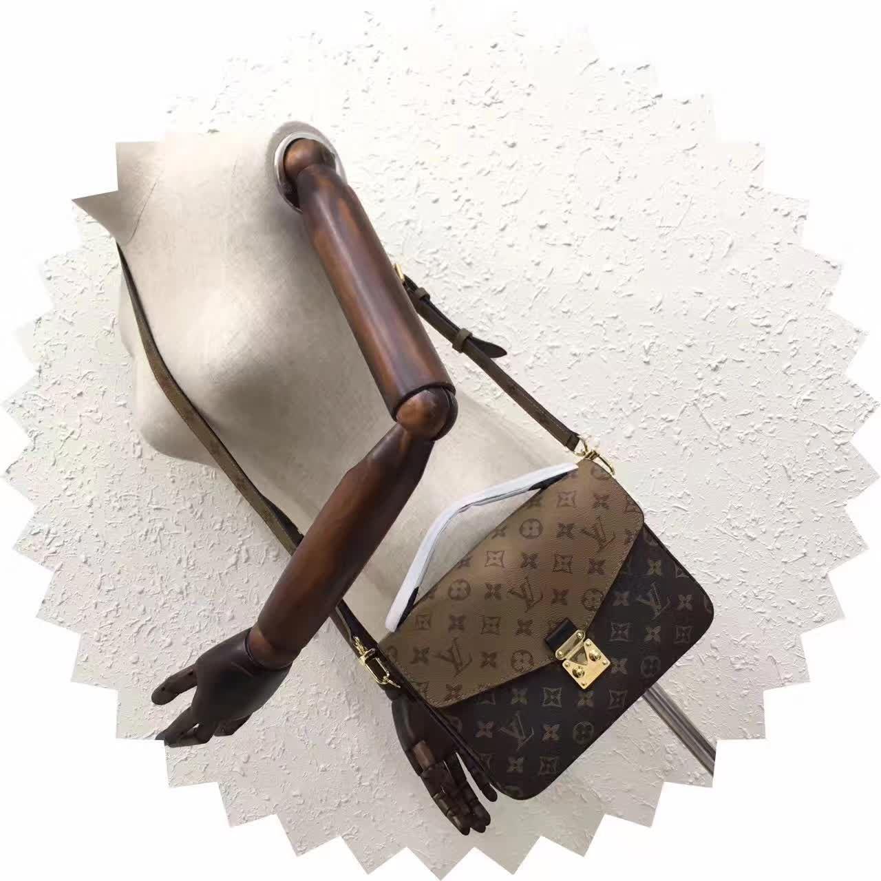 417684b337d M41465 NEW HOT WOMEN CLOTHING SHOULDER BAG PURSE POCHETTE METIS BROWN
