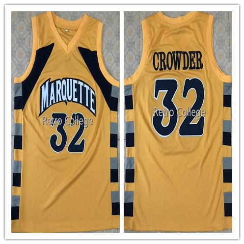 wholesale dealer 8e62e 93fed #32 Jae Crowder College Marquette Golden Eagles Basketball Jersey All Size  Stitched Custom any Number name XS-6XL vest Jerseys Ncaa