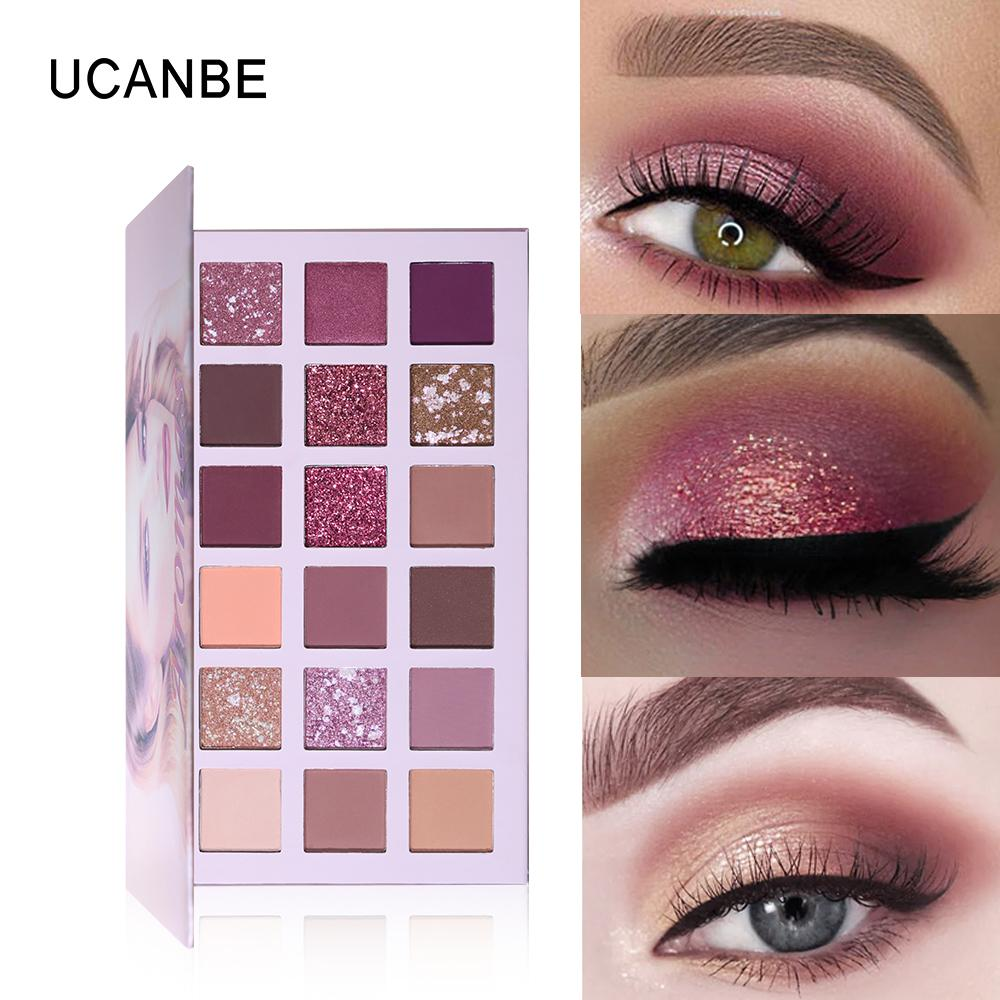 UCANBE 18 Colors Aromas Nude Eyeshadow Palette Long Lasting Multi  Reflective Shimmer Matte Glitter Pressed Pearls Eye Shadow Makeup Pallets