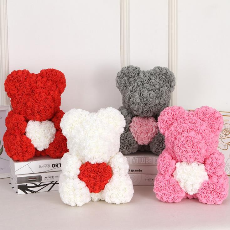 Arts & Crafts, Diy Toys Craft Toys 25cm Diy Pe Foam Flowers Rose Bear Flowers Creative Toys Gifts For Valentines Day