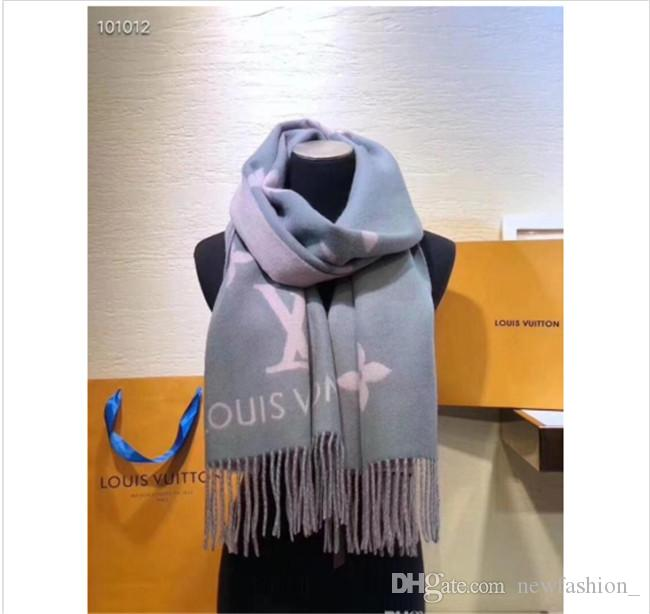 High quality Cashmere designed scarves for men and women Luxury shawl Autumn and winter Best-selling classic Scarves size45-180 with box
