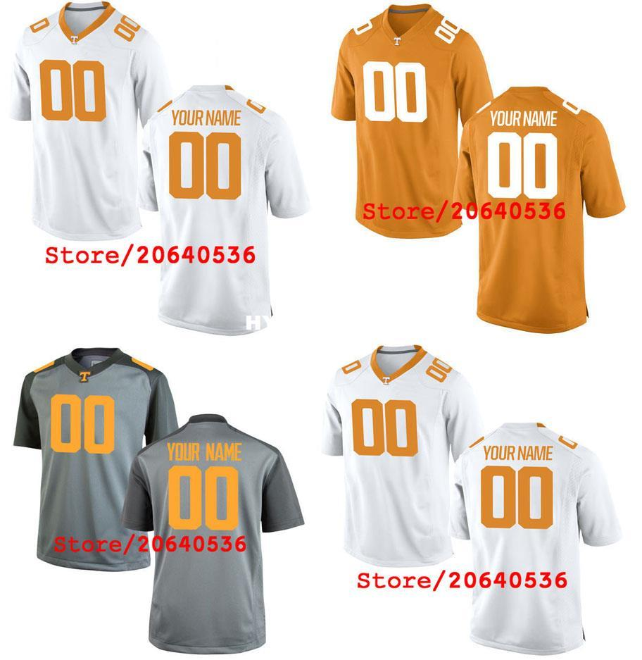 detailed look 02f71 73607 Custom Tennessee Volunteers College jersey Mens Women Youth Kids  Personalized Any number of any name Stitched Grey White Football jerseys NC