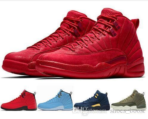 reputable site 4b1e1 4f436 Winterized 12 Gym Red 12s Men Basketball Shoes Michigan Wings Bulls Unc Flu  Game The Master Black White Taxi Sport Trainer Sneakers